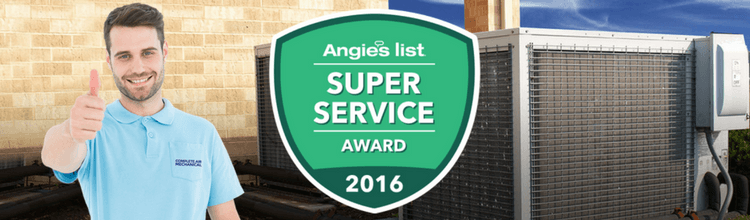 Complete Air Mechanical Wins Angie's List Award for 2016