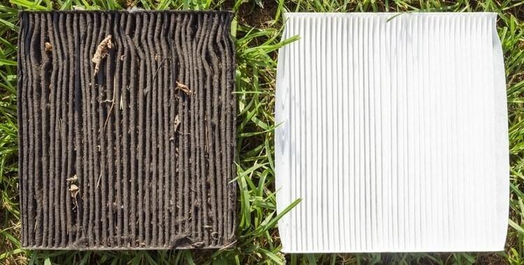 dirty air filter vs clean air filter